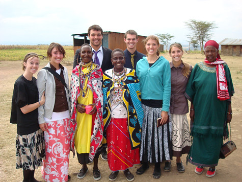 After our church service in Narok with the elders of the church