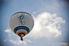 Living City (bvado) Tags: city sky logo flying balloon lucht luchtballon turnhout