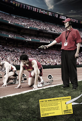 Amnesty International campaign for Beijing Olympic Games 2008