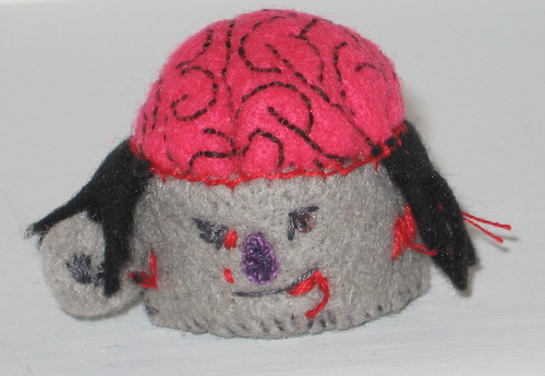 Zombie Head Pincushion
