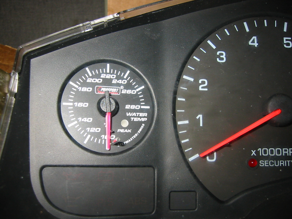 boost and water temp gauges installed into stock cluster - MR2