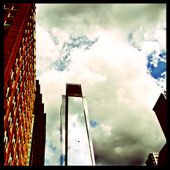It towers over you (sadandbeautiful (Sarah)) Tags: new city sky philadelphia clouds buildings comcast skyscrapers comcastbuilding