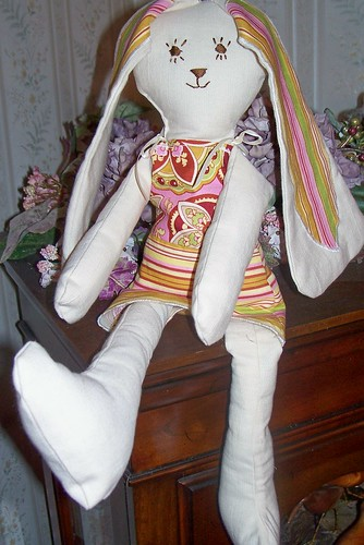Handmade Floppy Eared Bunny