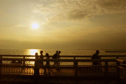 江ノ島大橋夕暮れ