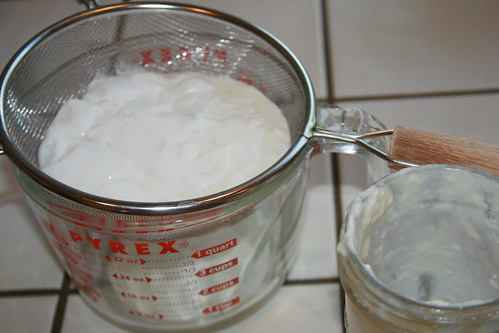 Straining the Kefir Grains