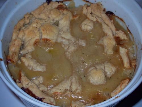 chicken pot pie baked