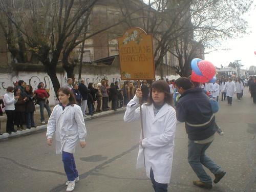 Desfile religioso en Bernal