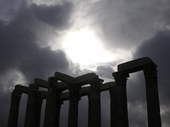 Greece 07 #3 (tt64jp) Tags: light cloud sun history sol archaeology silhouette greek temple soleil solar ancient ruins europe european ray cloudy religion hellas athens greece zeus sacred spiritual archeology  grce remain  ancientgreece attica olympian    archeologicalsite  templeofolympianzeus    lhistoire    attik