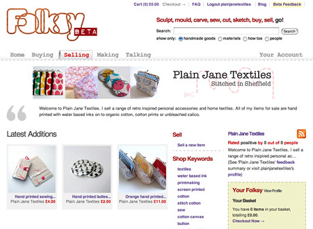 My Folksy page