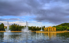 El Goli (People's Pool), Tabriz, Azarbaijan, Iran (Persia) (eshare) Tags: trees sky people cloud pool architecture clouds buildings landscape iso100 persian pond arch iran persia arches basin dome iranian fountains  hdr highdynamicrange iranians  persians tabriz    elgoli azarbaijan       tthdr hdrfromasingleraw sonyalphadslra100    sal20f28   dynamicphotohdrsoftware dphdr shutterspeed1125sec   100 diaphragmvaluef80 sonyalpha20mmf28lens elgolibuilding   eastazarbaijanprovinceofiran  2028 elgolipool elgolifountains