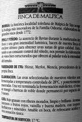 FINCA DE MALPICA TINTO 2005 - VINO DEL MES DE OCTUBRE´08