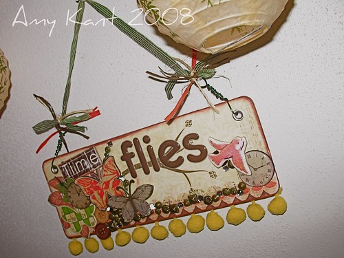 Time Flies Wall Hanging