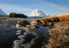 Glencoe (Hugh Spicer / UIsdean Spicer) Tags: winter snow scotland day cloudy glencoe lochtulla blackmount goldstaraward