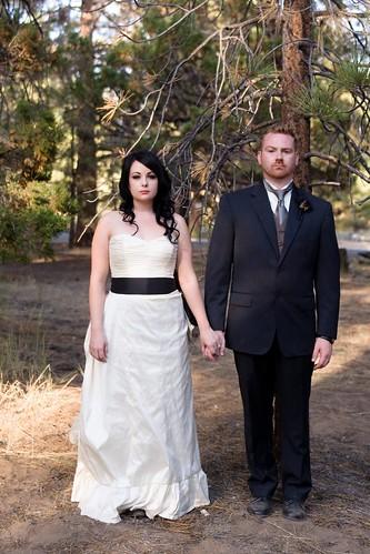 Rachael Josh 39s Victorian Gothic Woodland Wedding