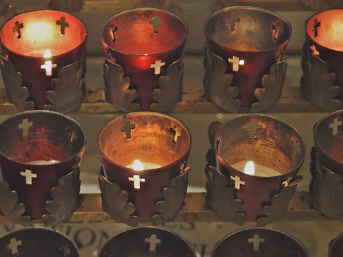 Candles and Copper Crosses