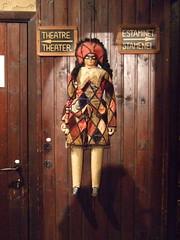 Marionette in a cafe (velvetdahlia) Tags: harlequin marionette brusselsbelgium