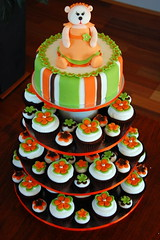 Beanie Baby Cupcake Tower (TheLittleCupcakery) Tags: orange baby tower cake little cupcake lime beanie tlc cupcakery xirj klairescupcakes