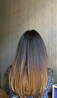 За год отрасли волосы