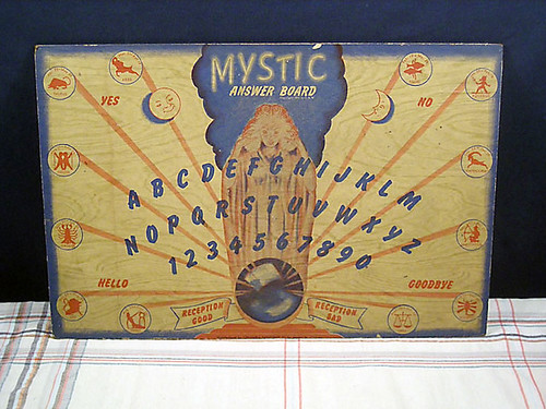 Vintage Columbia JSW Mystic Answer Ouija Board 1944