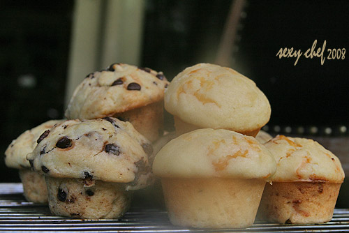 choco and cheese muffins
