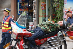Napping in Chongqing