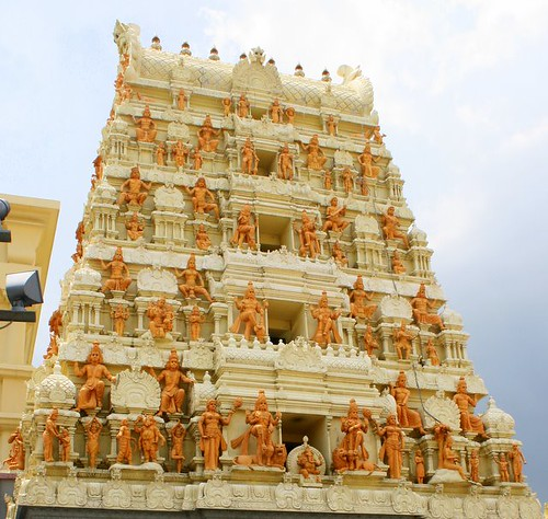 Detail from facade of Sri Senpaga Vinayagar Temple at 19 Ceylon Road
