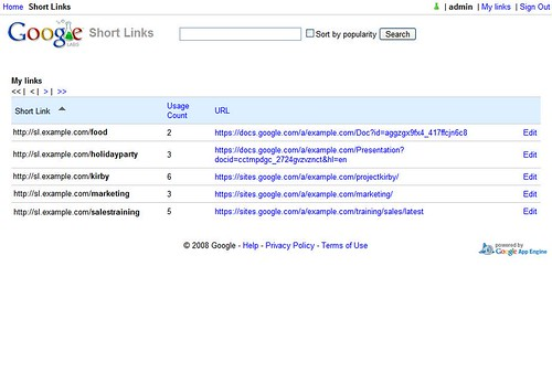 Google Short Links