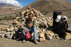 Gyan resting after climb fromTangbe (Andreas' Photos) Tags: nepal jomsom kagbeni chele uppermustang
