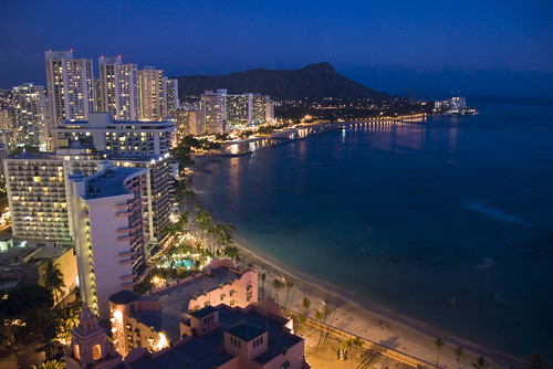 Waikiki Lights Up for the Evening