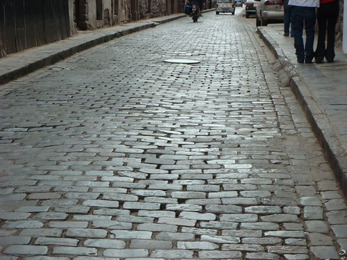 Cobblestones in Cusco.