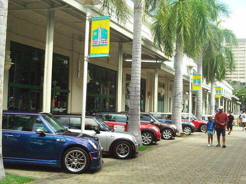 Minis, all in a line