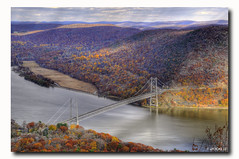 Bear Mountain Bridge HDR (Jersey JJ) Tags: bear new york bridge autumn mountain color fall leaves river nose nikon suspension magic scenic donkey explore hudson overlook foilage hdr anthonys d300 6x photomatix magicdonkey 6exp tpslandscape