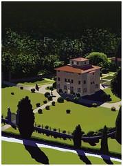 villa (suzy_yes) Tags: tree architecture illustration garden landscape italia villa landschaft vector mariazaikina