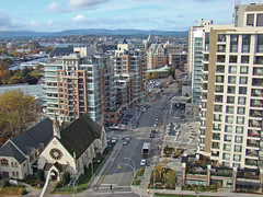 Downtown Victoria B.C. Canada (thegreatscaper) Tags: old city urban canada building fall church beautiful skyline architecture skyscraper buildings construction downtown bc view apartment pacific northwest britishcolumbia centre capital center victoria automn condo highrise empress core towercrane archecture churchofourlord ylot