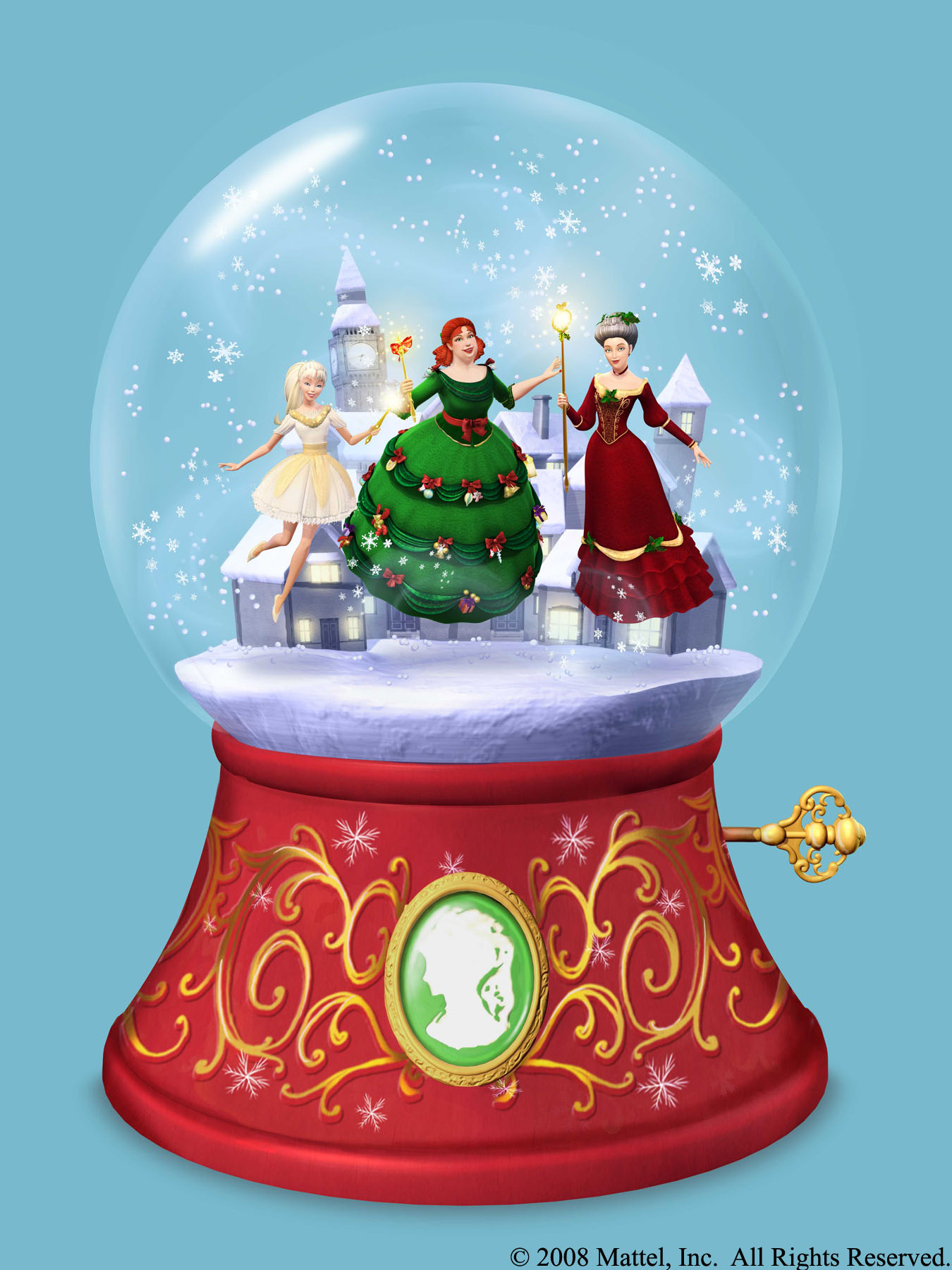click on the image for the large desktop background version - Barbie A Christmas Carol