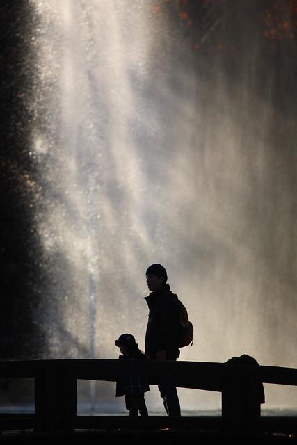 キラキラな噴水