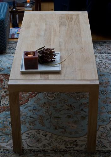 Nieuwe salontafel