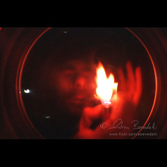 light my fisheye () Tags: light red fish guy eye andy fire lomo andrea andrew benedetti