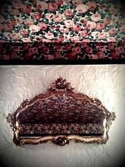 Tasteful Interior (mishes) Tags: pink flowers wallpaper digital germany deutschland hotel holga lomography interior helga allemagne darmstadt camerabag iphone doitsu iphone3g