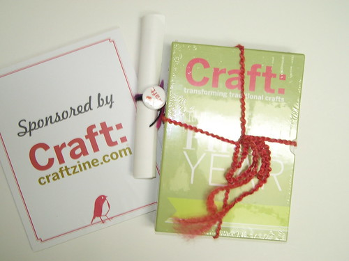 IndieSac Raffle Prize - a subsription to CRAFT magazine and a boxed set!
