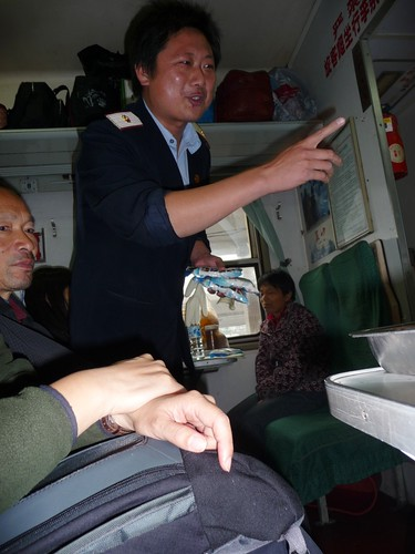Selling Latex Gloves on the train to Huaihua