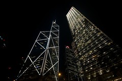 Towers of light (koffiejunkie) Tags: china hongkong   bankofchinabuilding cheungkongcenter
