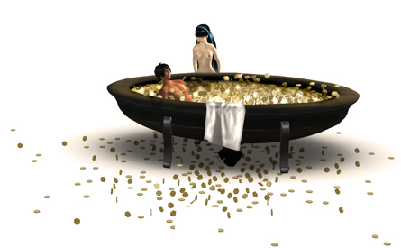 Bathing in virtual money - Prad Prathivi & Vint Falken