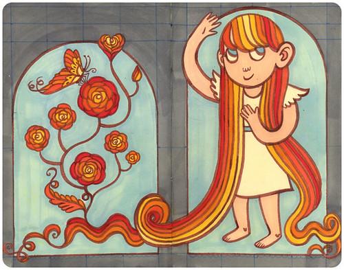 Rosy Hair