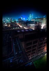Vertigo (GeckoKid) Tags: city london abandoned thames night evening rooftops bank warehouse hdr rooft