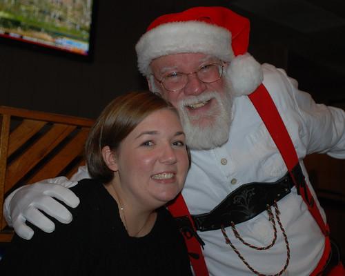 Allison and Santa