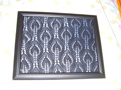 Knitted Lace Jewelry Frame
