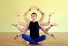 Shiva Yogi Man with eight