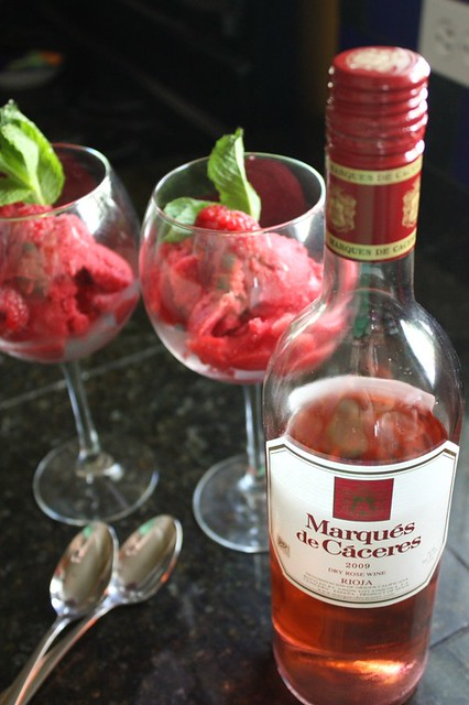 Raspberry Rosé Sorbet - Completely Delicious