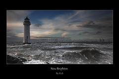 New Brighton (Robstorm Photography) Tags: sunset sea lighthouse storm liverpool waves shropshire newbrighton choppy oswestry perchrock